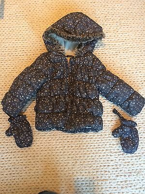 Girls Padded Winter Coat 12-18 Months