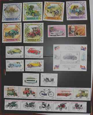 MOTOR VEHICLES ~ Various Thematic Stamps ~ Mint UNMOUNTED