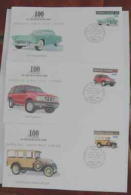 Marshall Islands FDC - 100yrs on the Road with Ford, 1996 ~ 3 Covers