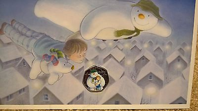 2014 Isle of Man The snowman and the Snowdog and James christmas 50p