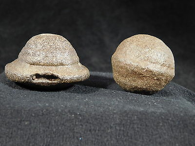Pair of 100% Natural Moqui Marbles or Shaman Stones from Southern Utah 76.0gr e