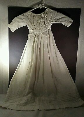 Antique baby christening gown with pintucked bottom