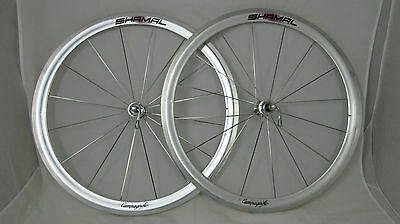 Campagnolo SHAMAL Road Bike clincher wheelset skewers 16/16H C-Record 9-10-11sp