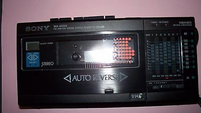 Vintage Sony WA-8000 FM/MW/SW 9 Band Stereo Cassette-Corder Non-working Cassette