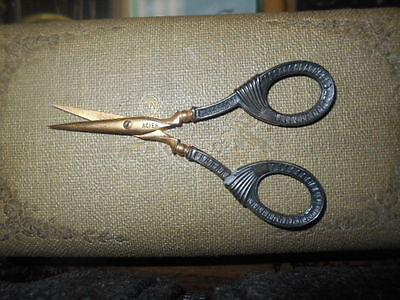 Antique Singer and Halberstaedter  Sterling Silver sewing sissor 1900 sewing kit