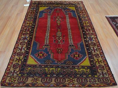 4'1x7'8 Persian Design Genuine Turkish Hand Woven Oriental Natural Dyes Wool Rug