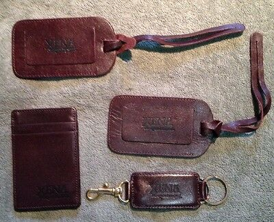 Xena Warrior Princess Rare Leather Luggage Tags+Magic Wallet+Leather Key Holder