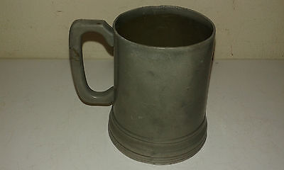 Antique glass bottomed pewter tankard date line 1860