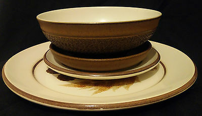 4 old pieces of Denby stoneware