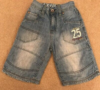 Boys Denim Shorts With Adjustable Waist From NEXT Age 6 Good Condition