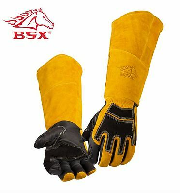 REVCO BSX Premium Cowhide Back Long Cuff Stick Welding Gloves BS99 Large XL