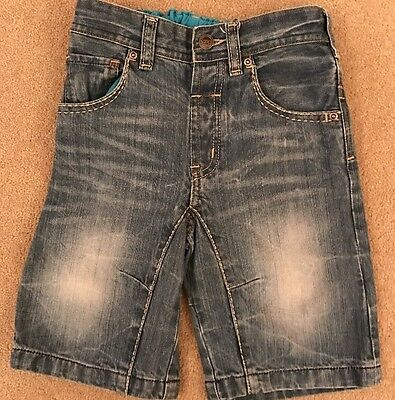 Boys Denim Shorts With Adjustable Waist From NEXT Age 4-5 Good Condition