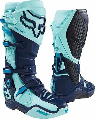 2016 Fox Racing Instinct Limited Edition Seca Boots Ice Blue Size 12