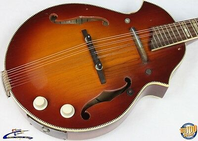 Vintage '50s-'60s Kay Venetian-Style Electric Mandolin w/ Case #7037