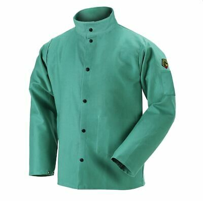 "NEW Revco Black Stallion F9-30C 9oz. 30"" Cotton FR Green Welding Jacket S-4XL"