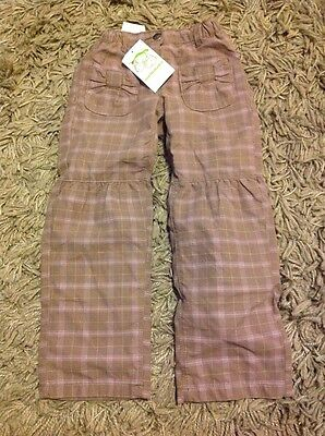 Verbaudet Lined Beige Check Trousers. Bnwt