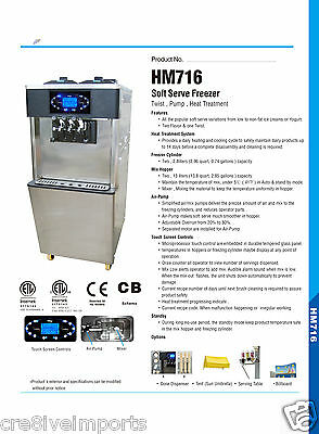 Hommy 716 Soft Serve/ Frozen Yogurt Machines located in Brisbane