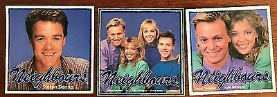 Neighbours fan card's 3 differing Un signed from 1987