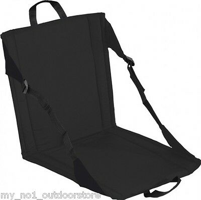 Trekmates Folding Camping Seat Rest with padded seat and back surface - Black