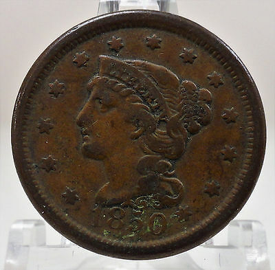 1850 Liberty braided hair large cent, #64775