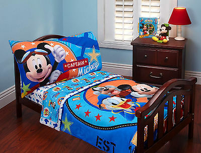 Disney Mickey Mouse Capitan Mickey 4 piece Toddler Bedding Set