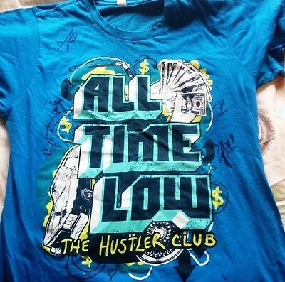 All Time Low signed band top