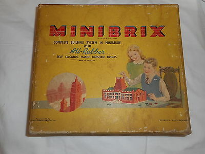 Vintage Minibrix Building Game Made in England Original Box & Instructions