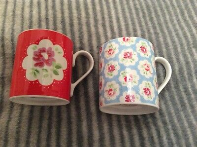 two cath kidston flower mugs (used)