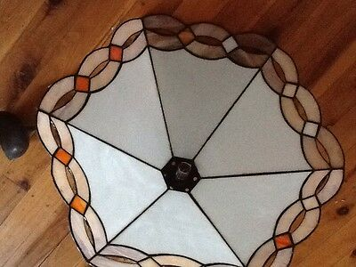 leadlight stained glass LIGHT FITTING ceiling pendant WILL POST