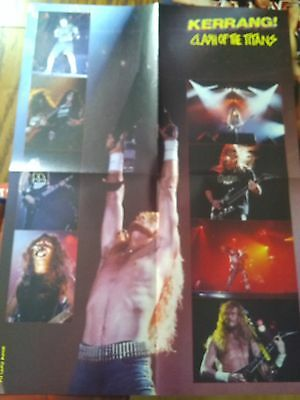 Clash of the Titans Megadeth Large Foldout Poster from Kerrang Magazine