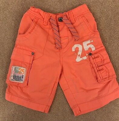 Boys Pink Shorts With Adjustable Waist From NEXT Age 5 Excellent Condition