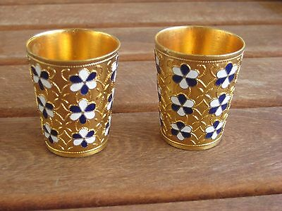 Vintage gold plated Russian cups