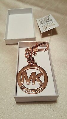 Genuine Michael Kors Key Charm For Bags-Rose Gold Plated