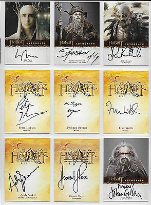 The HOBBIT Master Set 27 Autographs, Sketch, 3D, Base, Chase, Promos with Binder