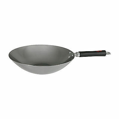 Spice wok Dexam swift 30cm Profesional Carbon Steel Wok With Phenolic Stay Cool