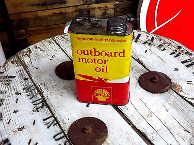 Shell outboard 1 quart motor oil can Unopened