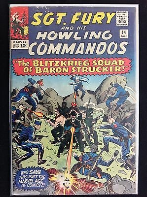 SGT FURY #14 Lot of 1 Marvel Comic Book - Howling Commandos!