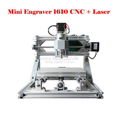 CNC 1610 + 500mw laser GRBL control DIY mini cnc engraving machine