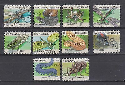 New Zealand-Creepy Crawlies booklet stamps