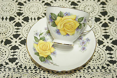 Royal Vale by Ridgway Bone China Cup and Saucer SET Roses Pattern 7857   MINT!