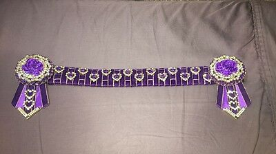 Horse Show Bling Browband - Purple 14.5inch