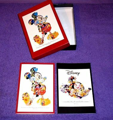 Box Set Of 20 Disney Mickey Mouse Collage Notecards By Artist Paul Wenzel