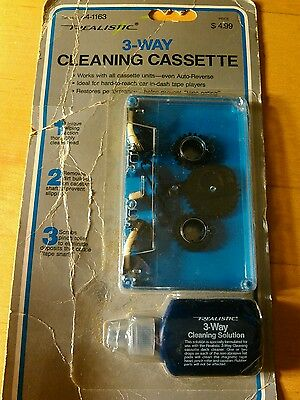 Radio Shack Realistic 3-Way Cassette Tape Cleaner  44-1163 -- SEALED