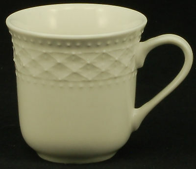 Gibson Royal Quilt White Black Stamp Cup