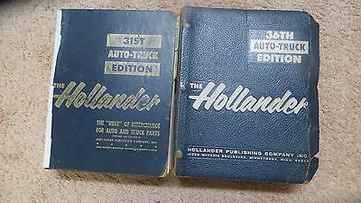 31ST AND 35TH  Hollander Parts Interchange Manuals 1953-1970 GOLDEN AGE OF AUTOS