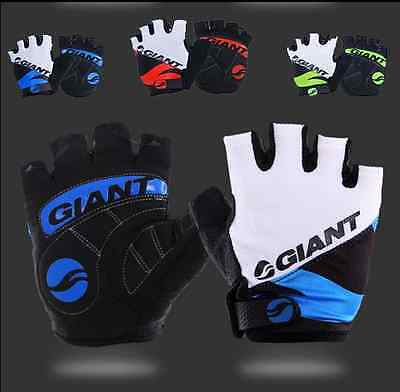 Giant Half Finger Gel Bicycle Cycling Breathable Gloves Mountain Bike Silicone