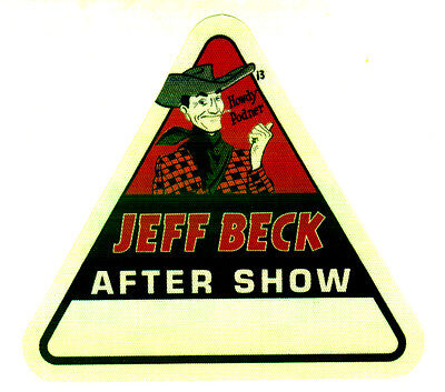 Jeff Beck - Real 2014 Tour Backstage Pass - Rare!