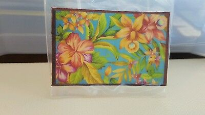 Dollhouse Miniature  Flower  Rug/Picture