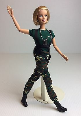 """Mattel Paratrooper Barbie Doll - AAFES Special Edition Military Army 11 1/2"""" T"""