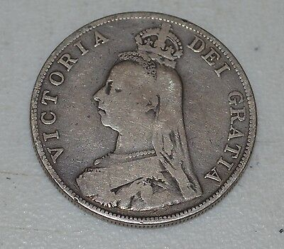 1889 Great Britain Silver Double Florin Only 243,000 Minted